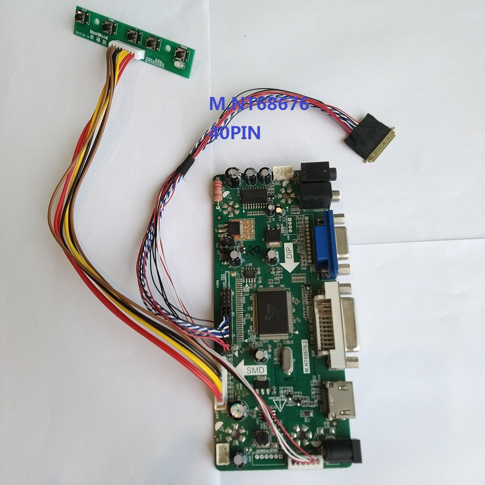 HDMI+DVI+VGA LCD lvds Controller Driver Board Kit for LED CLAA140WB01A 1366X768