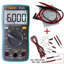 купить ANENG AN8002 Digital True RMS 6000 Counts Multimeter AC/DC Current Voltage Frequency Resistance Temperature Tester по цене 1236.84 рублей