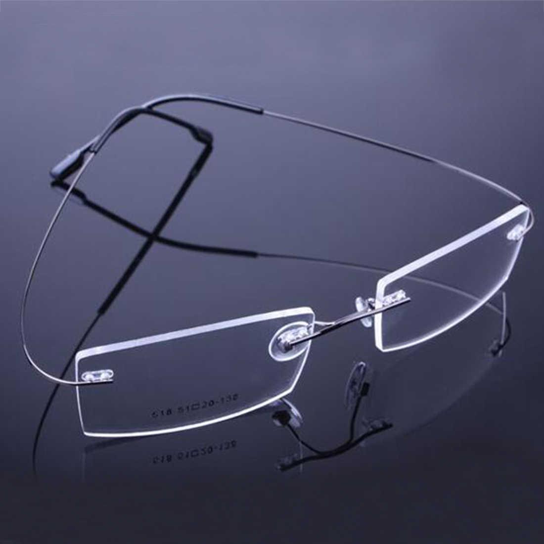 293d4d2b4b ... Fahion Retail 9 Colors Lightweight Rimless Glasses Frames Memory  Titanium Eyeglasses Spectacle Prescription Optical Frames 2018