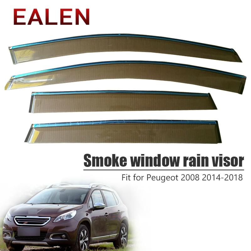 EALEN For Peugeot 2008 2014 2015 2016 2017 2018 ABS Vent Sun Deflectors Guard Accessories 4Pcs