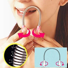 New Design Hot Women Painless Face Facial Hair Spring Bend Remover Epilator Beauty Tool