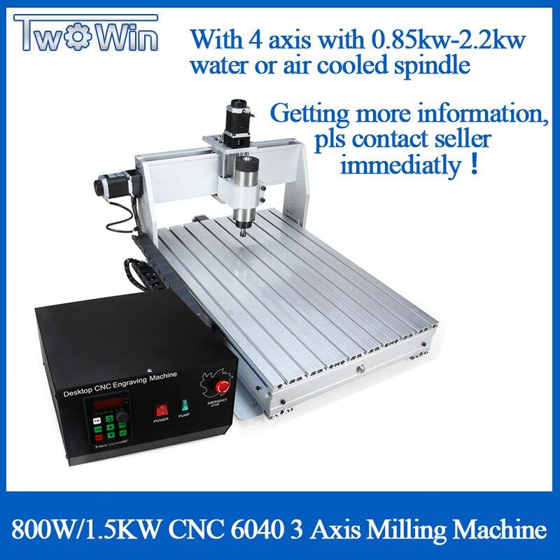 800 Вт/6040 кВт CNC 3 оси CNC маршрутизатор CNC резьба по дереву машина USB Mach 3 управления деревообрабатывающий фрезерный гравер машина