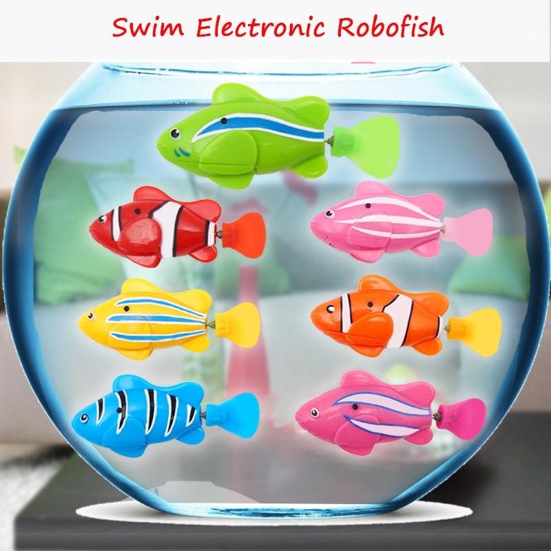 Fake swim electronic robofish battery powered robot toy for Fake fish that swim