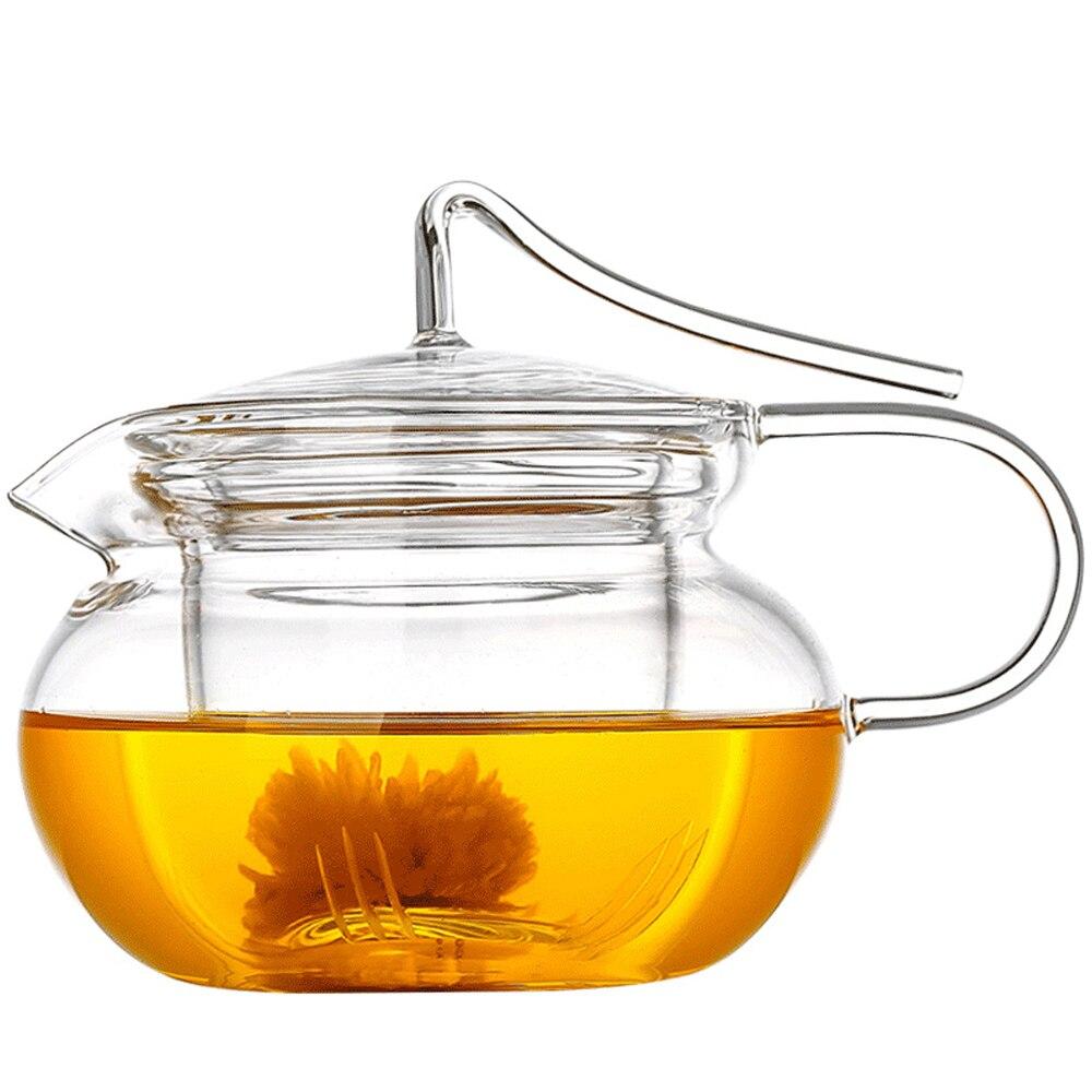 PINDEFANG Té floreciente artístico de 450 ml, tetera de hojas - Cocina, comedor y bar