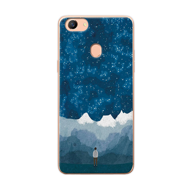 Couple Phone Case For OPPO F5 Cover A73 A73T Space Stars Art Print Case Coque For OPPO F5 Soft TPU Funda OPPO A79 6.0