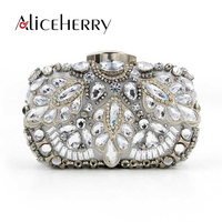 Aliceherry famous brands women clutch purses lady pearl diamond evening bags small dinner bag feminine party chain handbag blosa