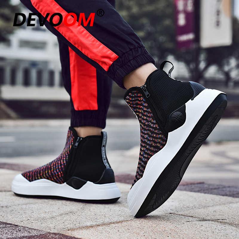 2d91f52b ... Зима-осень мужской обуви мода носок без шнуровки Ziper суперзвезды  парусиновая обувь Для мужчин Повседневное ...