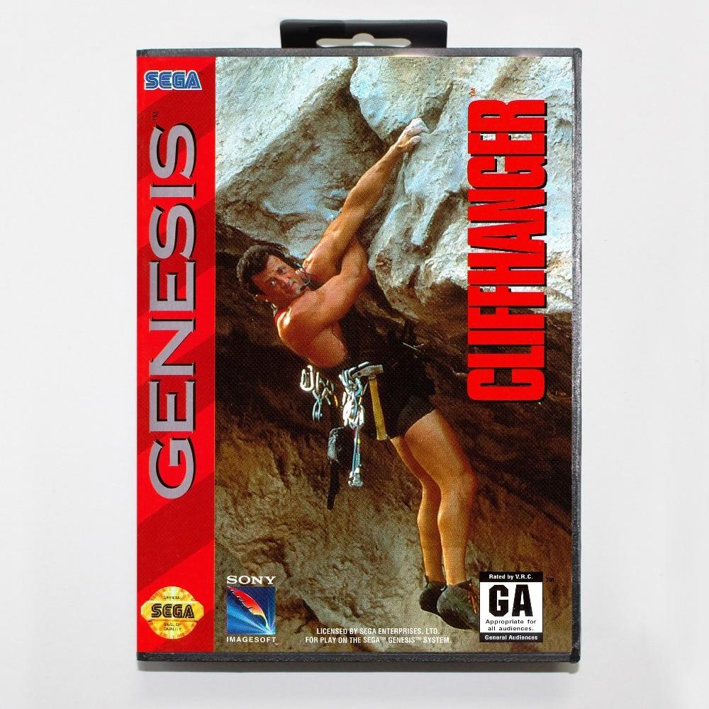 Cliffhanger Game Cartridge 16 bit MD Game Card With Retail Box For Sega Mega Drive For Genesis
