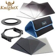 KnightX 49 52mm 58mm 67mm 72mm 77mm בוגר הצבע ND כחול עדשת מצלמה ערכת סינון עבור Nikon Canon עבור Cokin P סדרת מצלמה