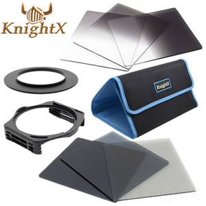 KnightX 49 52mm 58mm 67mm 72mm 77mm graduated color ND Blue lens camera filter Kit for Nikon Canon for Cokin P Series camera(China)