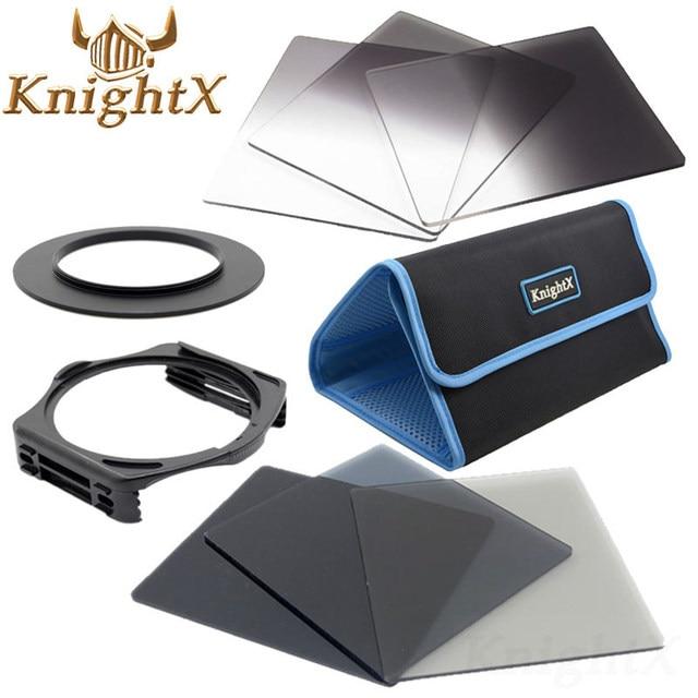Knightx 49 52mm 58mm 67mm 72mm 77mm 졸업 된 색상 nd 블루 렌즈 카메라 필터 키트 nikon canon for cokin p 시리즈 카메라