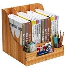 Настольные аксессуары, настольный DIY лоток для файлов, подставка для книг, журнал, органайзер, держатели для ручек, Канцелярский держатель, настольный набор, простая сборка