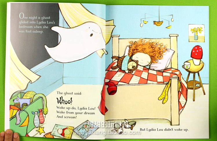 Picture story book Wake up do, Lydia Lou! Children's funny