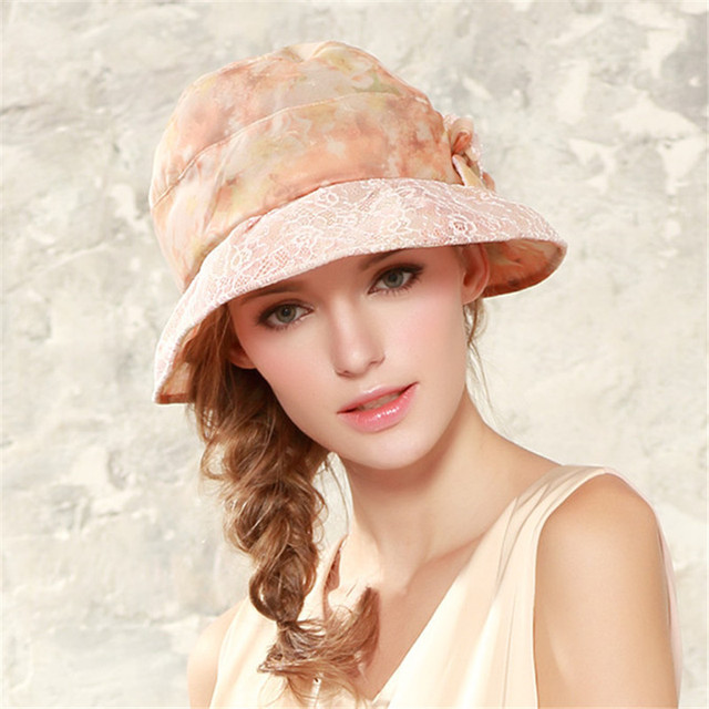 fa2788a28 Brand Kenmont Summer Women Boonie Bucket Hats Lace Flower Wide Brim UV Sun  Protection Vacation Beach Cap for Women 3040-in Sun Hats from Women's ...