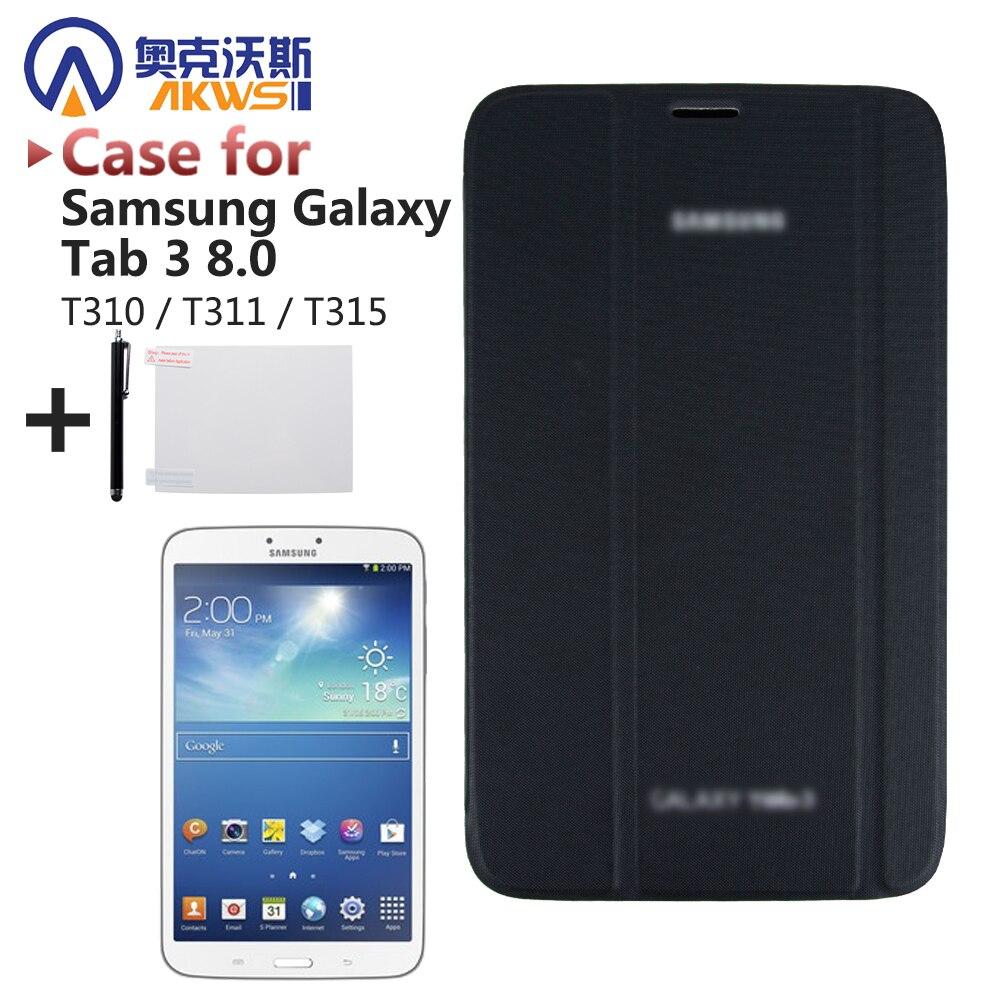 Affari Astuto Tablet Caso Della Copertura per Samsung Tab 3 8.0 T310 T311 T315 (Tab3 SM-T310) + Screen Protector + Stylus Pen