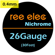 REE ELEC 10m/roll 0.4mm Electronic Cigarette Atomizer Ni80 Nichrome Heating Wires DIY Coils Heating Coils Wires For RDA Tank