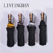 Ten bone automatic double folding umbrella 125cm double-layer one-button opening business