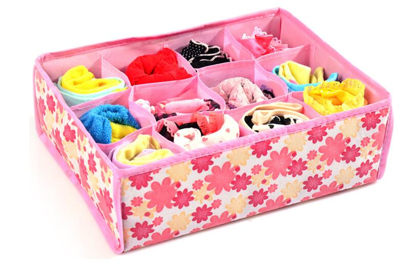 Non-Woven Fabric Folding Case Storage Box For 12 grid storage box for braunderwearsocks underwear organizer soutien gorge sac