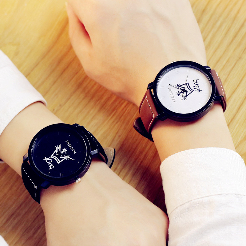 Back To Search Resultswatches Korean Middle School Couple Watch my Boy my Girl Letters Logo Lovers Watches Harajuku Retro Watch Personality Wristwatch Fashionable And Attractive Packages
