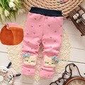 2016 новые детские брюки толстый зимний ребенок ребенок брюки мультфильм брюки