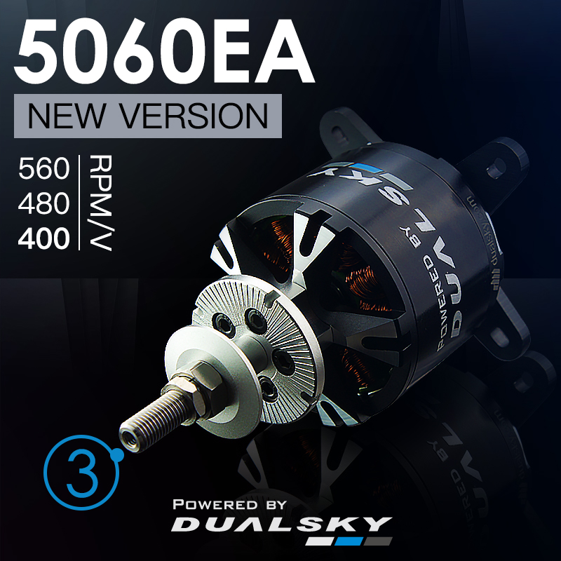 DUALSKY XM5060EA 4130EA III Brushless Motor 400KV/ 490KV/ 550KV For Fixed Wing RC Airplane