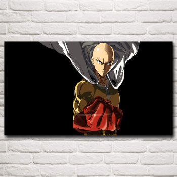 FOOCAME Japanese Anime ONE PUNCH MAN Art Silk Posters and Prints Painting Home Decor Wall Pictures For Living Room 30x54 Inches