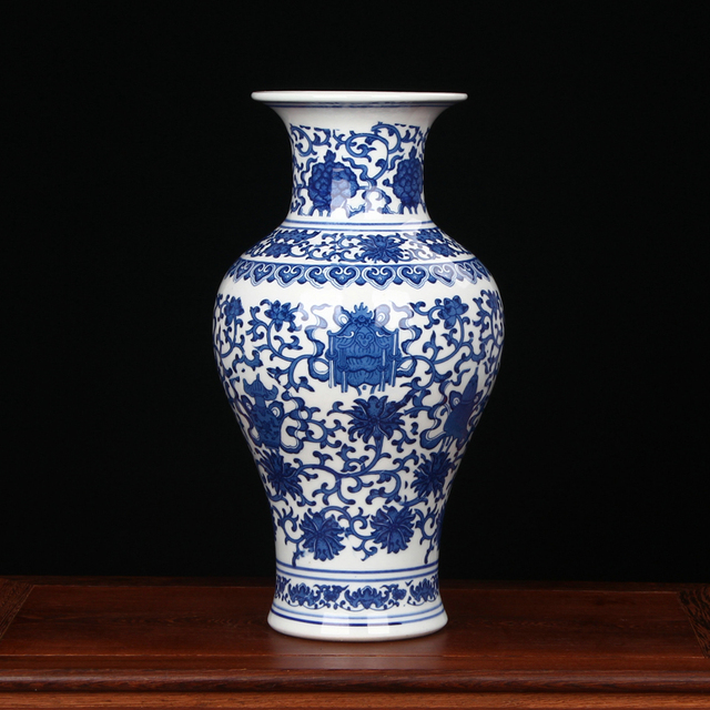 Jingdezhen Porcelain Vase Chinese Ceramic Vase China Flower Pot Vase