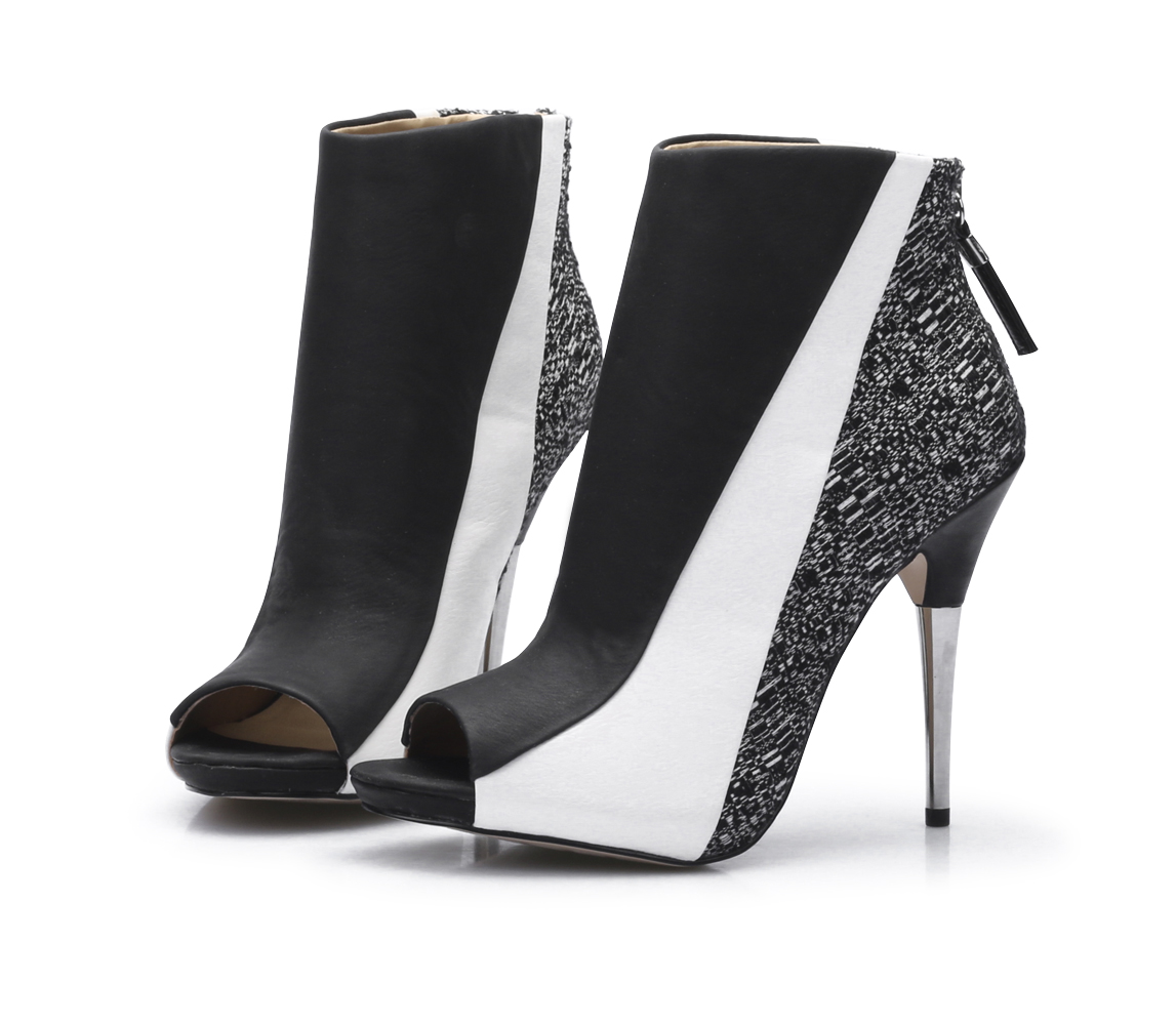 New arrrived 2015 Free Shipping  Stiletto High Heels Peep toe Ankle Boots/Fashion Zip Planting High quality Autumnwomen Booties dark blue belted peep toe fashion booties