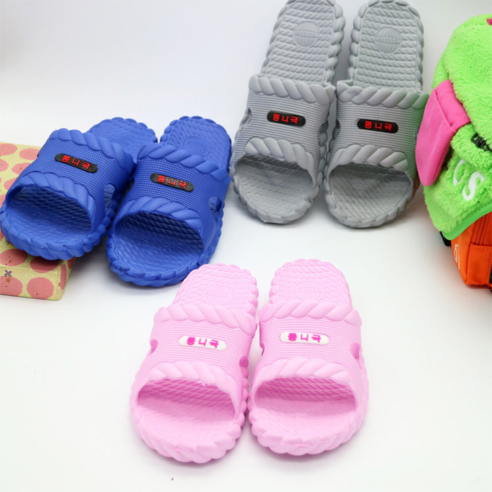 Sales Women and men high quality indoor font b slippers b font candy color bathroom anti