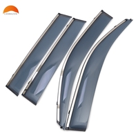 Fit For TOYOTA PRADO FJ150 2010 2015 ABS Plastic Window Visor Sun Visor Door Visor Moulding