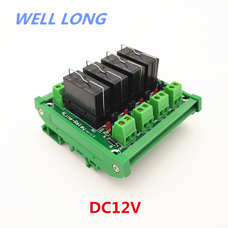 DIN Rail Mount 4 Channel SPDT 16A Power Relay Interface Module,OMRON G5RL-1-E 12VDC Relay.DIN Rail Mount 4 Channel SPDT 16A Power Relay Interface Module,OMRON G5RL-1-E 12VDC Relay.