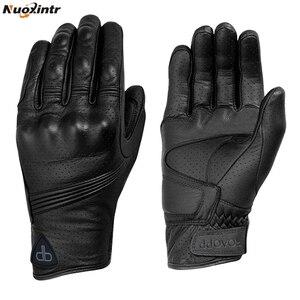 Image 2 - Nuoxintr oddychające rękawice motocyklowe skóra pełna osłona palca rękawice motocrossowe Downhill jazda na rowerze rękawice wyścigowe