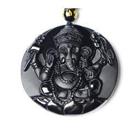 DropShipping Black Obsidian Necklace Pendant Thailand Geneisha Elephant Men S Jewelry Women S Jewelry