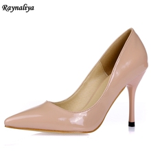 Spring Woman 7cm Thin High Heels Pumps White Red Shoes Women Genuine Leather Wedding Career Office XZL-B0006