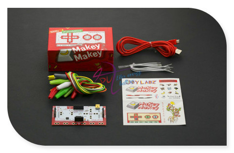 Original DIY Makey kit with USB Cable Alligator Clips support Connect everyday objects to computer keys for Kids/Children