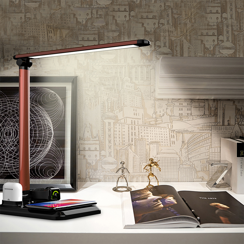 LED Desk Lamp Wireless Charger Table Lamp Luminaria Multifunction Led Table Lamp 5W Touch Table Lamp for IPhone AirpodsLED Desk Lamp Wireless Charger Table Lamp Luminaria Multifunction Led Table Lamp 5W Touch Table Lamp for IPhone Airpods