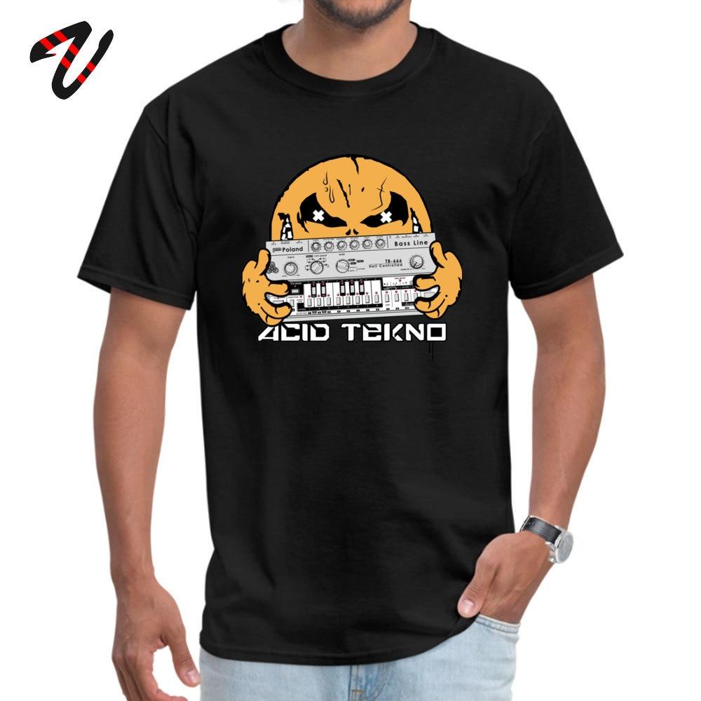Hacker Men Tees acid tekno Casual T Shirts All Cotton Ramen Sleeve Design Tee Crew Neck Male Free Shipping