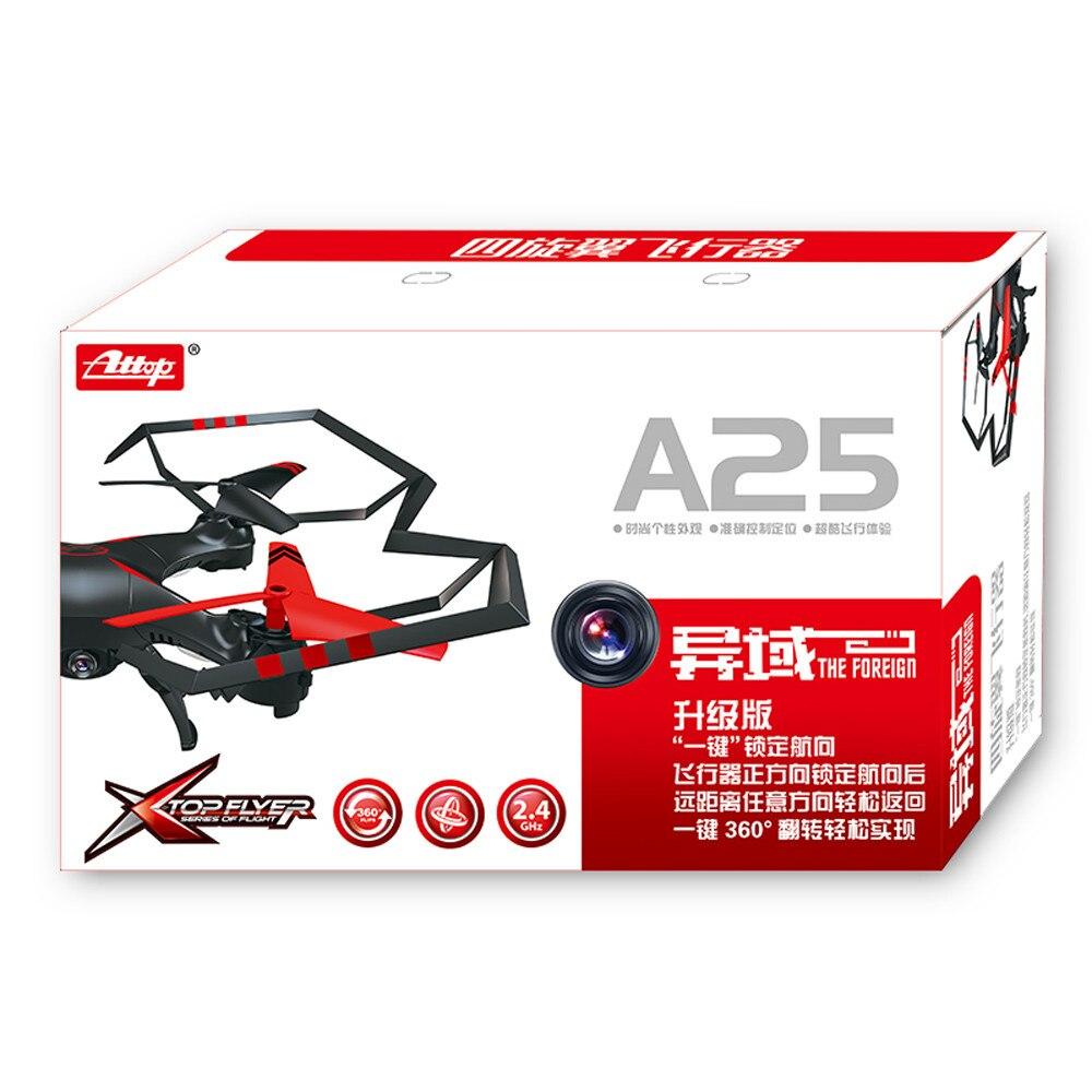 2019 Nouvel An Cadeaux A25c 6-Axe Gyro RC 2.0MP HD caméra quadrirotor RTF Jouets Volants Hélicoptère