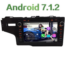 "8"" Android 7.1.2 Quad Core 2GB RAM 4G Multimedia Car DVD Player Radio Stereo GPS For Honda FIT Left Hand Driving 2014 2015 2016"