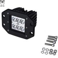 2Pcs 18W LED Work Light Bar Spot Beam Spotlight Offroad Light Bar Fit ATV Pick Up