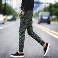 Calças Homem Camuflagem Do Exército outono Casuais Calças Compridas Homens Calças de Camuflagem Tático Militar Slim Fit Personalidade Zipper Projeto