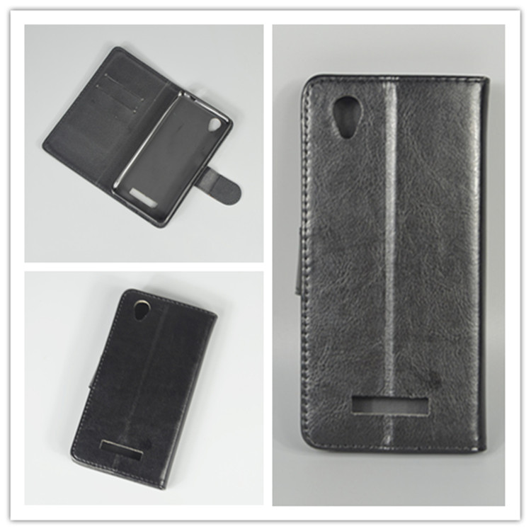 Crystal grain wallet case hold two Cards with 2 Card Holder and pouch slot For zte blade x3 d2
