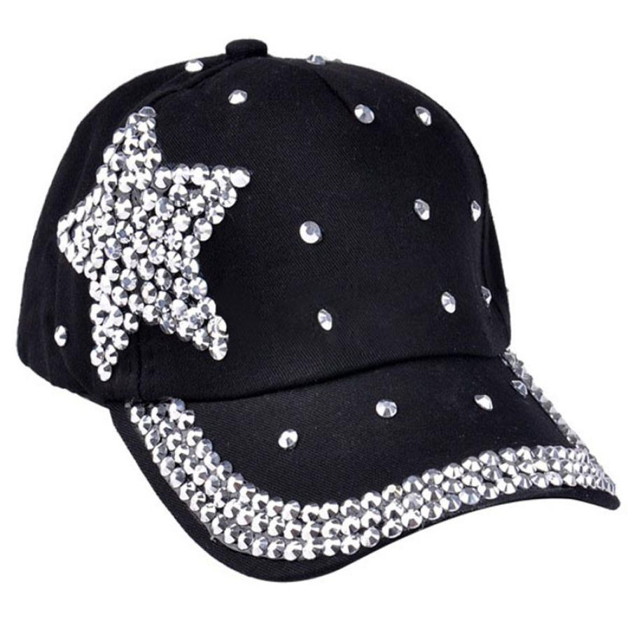 Children Cap For Girls 2016 Fashion women s hats Baseball Cap Rhinestone  Star Shaped Boy Girls Snapback Hat 5 Colors hat 12a66baabb0