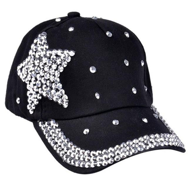488c806bea4c7 Children Cap For Girls 2016 Fashion women s hats Baseball Cap Rhinestone  Star Shaped Boy Girls Snapback Hat 5 Colors hat