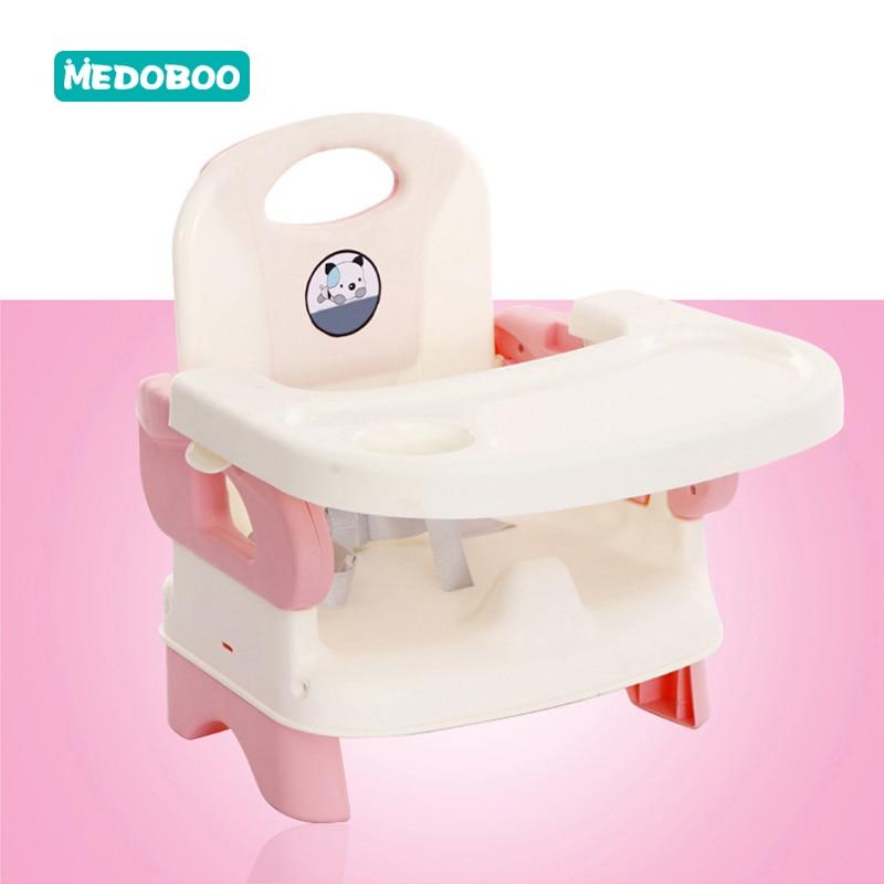 Medoboo Portable bébé chaise Table d'alimentation bébé dinant la chaise enfants mangeant siège réglable pliant infantile Table à dîner 30