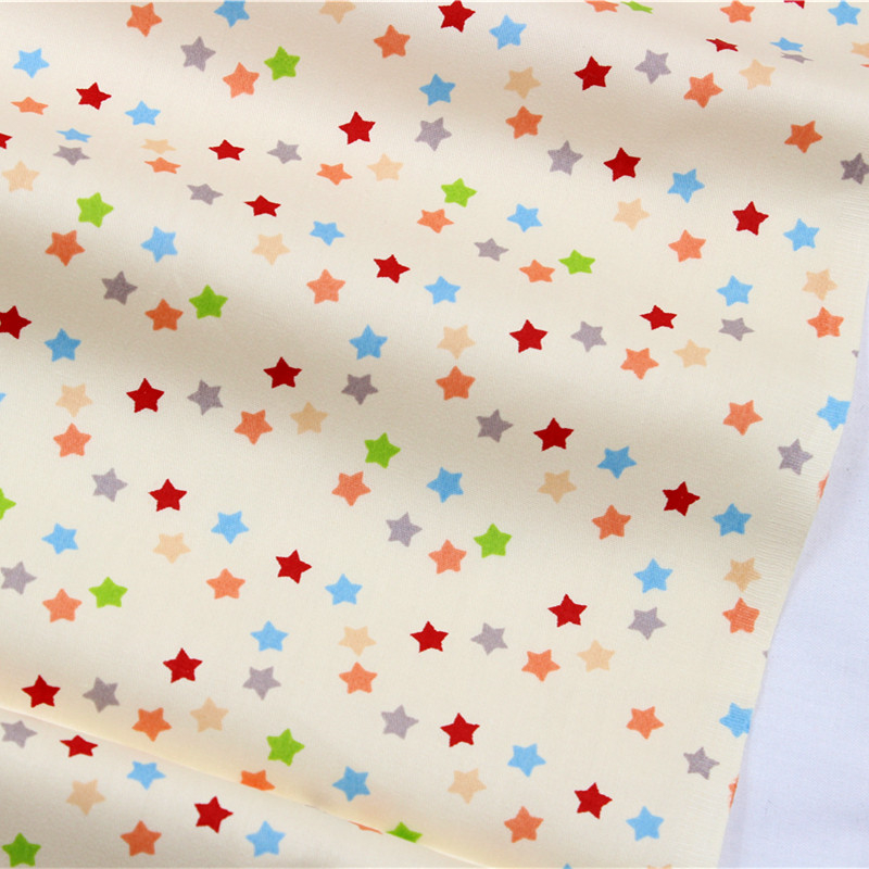 2016The New.16010619. 50* 150 cm Color stars cartoon series cotton fabric, Making cushions cushion, children clothing, bedding. image