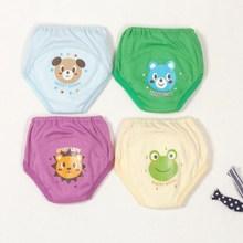 4 шт./лот,, милые 4-слойные водонепроницаемые тренировочные штаны для маленьких мальчиков многоразовый костюм, размер 100, 12-14 кг