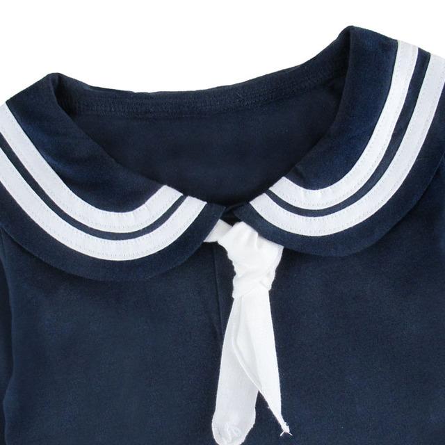 Bébé Filles Marin Body Nouveau-Né Fille Marine Robe Fête De Noël Salopette Mignon D'anniversaire Baptême Cadeau À Manches Longues 0-24 m
