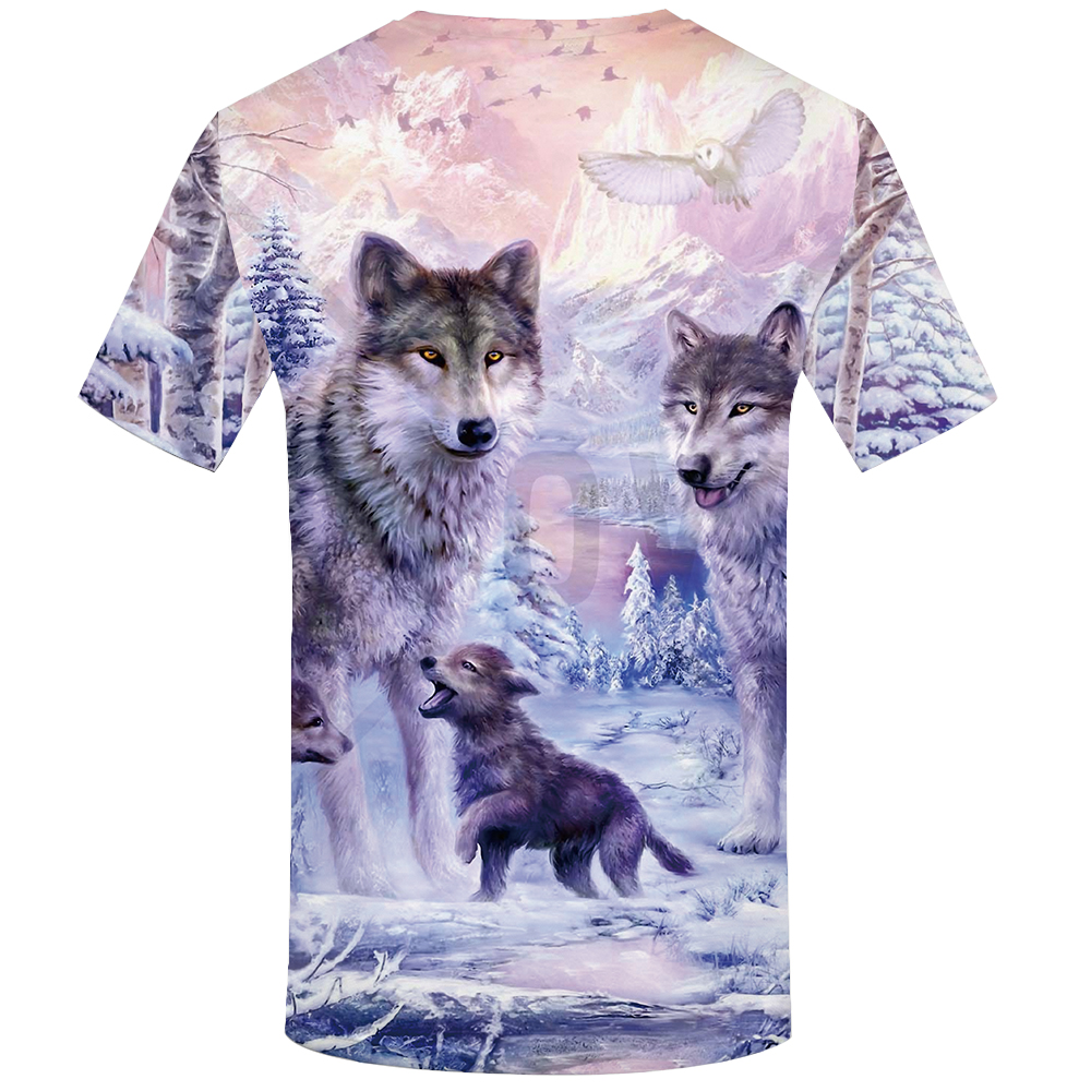 KYKU Brand Wolf T Shirt Women Snow Clothing Jungle Tshirt Tops Clothes 3d T-Shirt Womens Hip Hop Sexy Top Tee Female