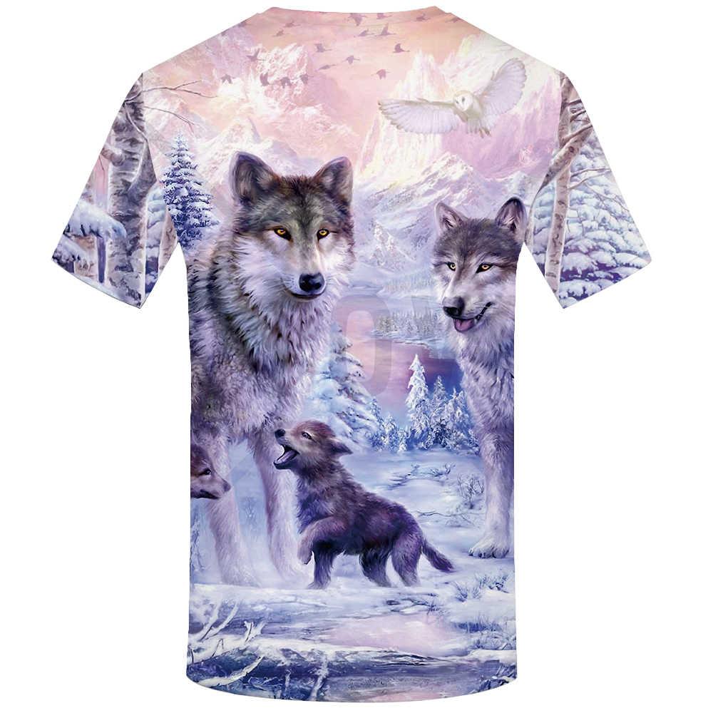 KYKU Marka Kurt T gömlek Kadın Kar Giyim Jungle Tshirt Üstleri Giysi 3d T-shirt Bayan Hip hop Seksi Üst Tee kadın
